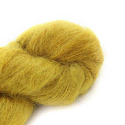 Cowgirl Blues Fluffy Mohair Semi Solids 09-Mustard