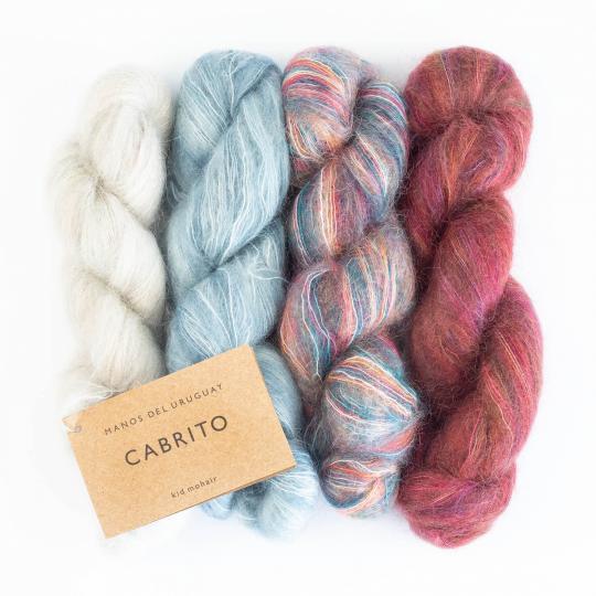 Manos del Uruguay Cabrito 25g hand dyed Tiza