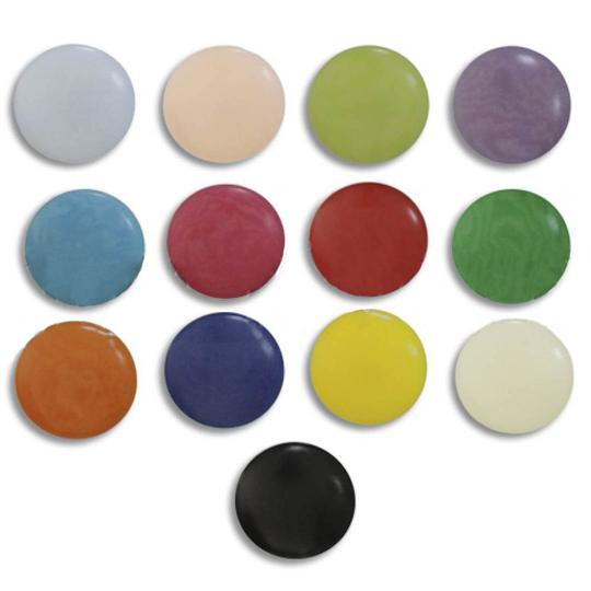 Jim Knopf Colorful buttons made from ivory nut 11mm