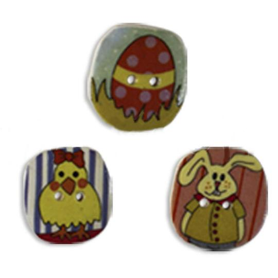 Jim Knopf Cocos button easter motivs