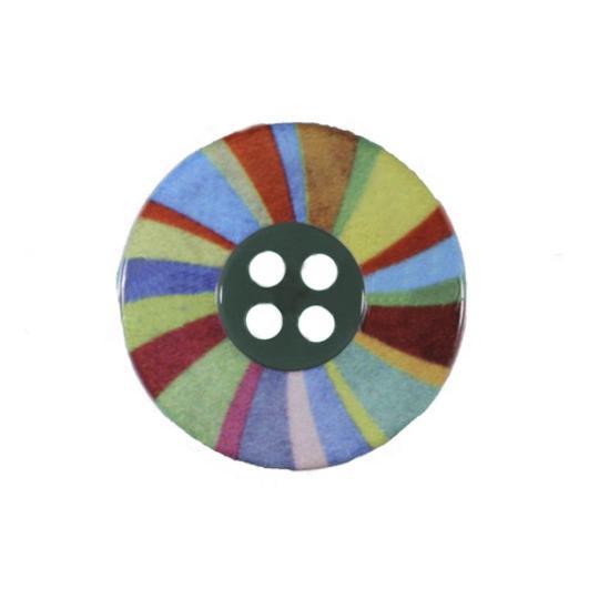 Jim Knopf Plastic button colorful wheel