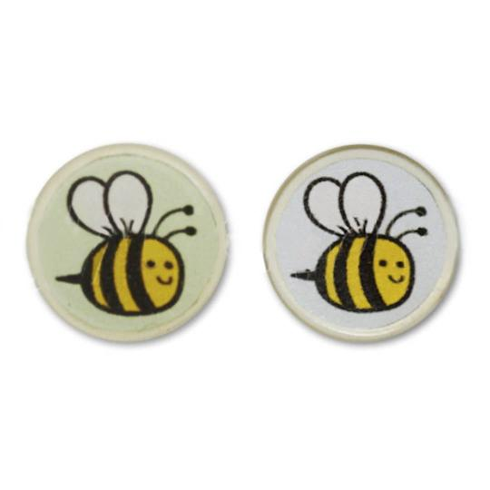 Jim Knopf Resin button with busy bee motiv 18mm