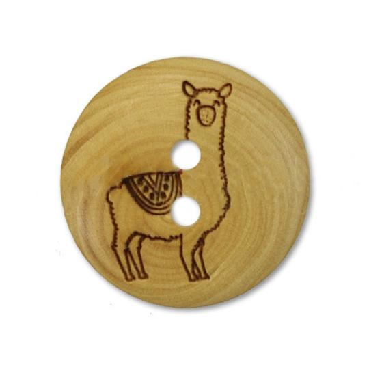 Jim Knopf Wood button llama 18mm