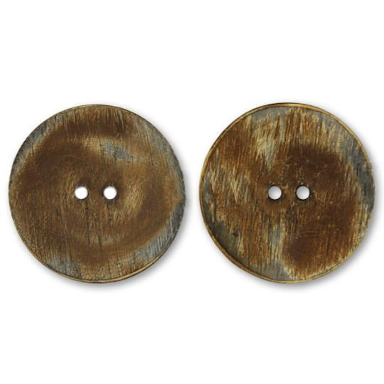 Jim Knopf Horn button with 2 holes 34mm
