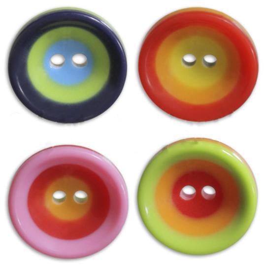 Jim Knopf Colorful plastic button circles 16mm