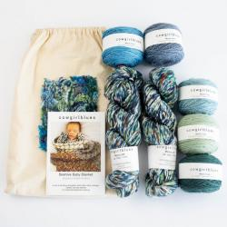 Cowgirl Blues Beehive Blanket Kit Blue and Green